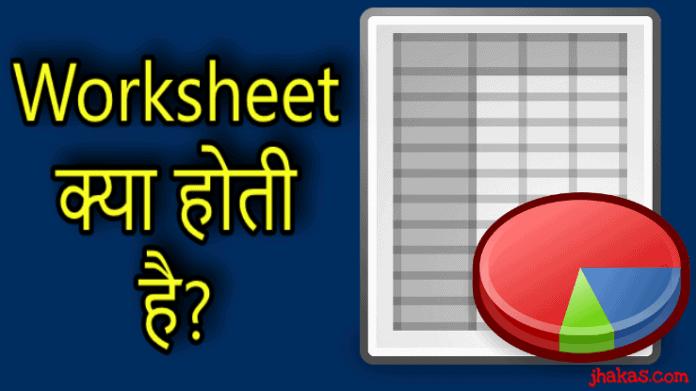worksheet in hindi